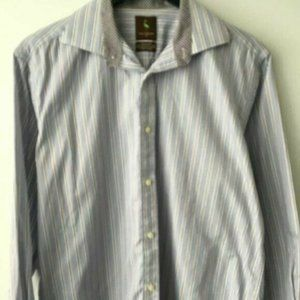 Tailorbyrd Stripe Button Up Shirt Long Sleeve